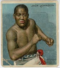 Jack Johnson Boxing Colour Image