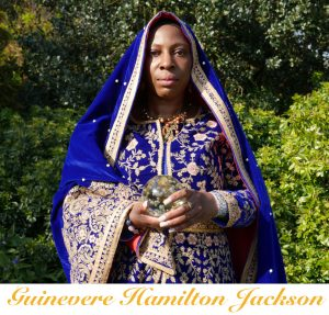 Guinevere Hamilton Jackson Red Blue Shawl In The Park